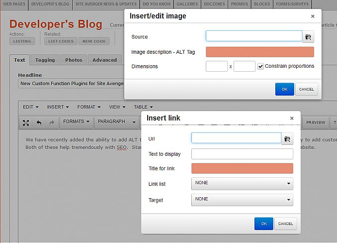 New Custom Function Plugins for Site Avenger Image